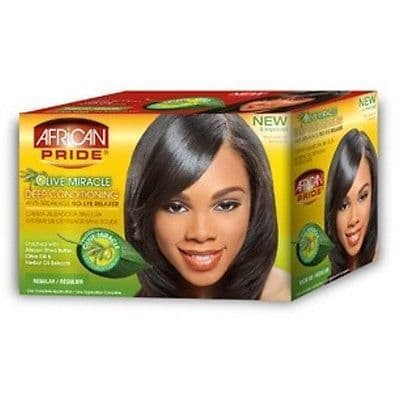 African Pride Olive Miracle No-Lye Relaxer - Regular or Super